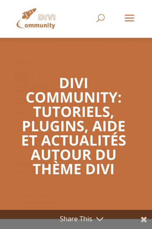 divi community mobile