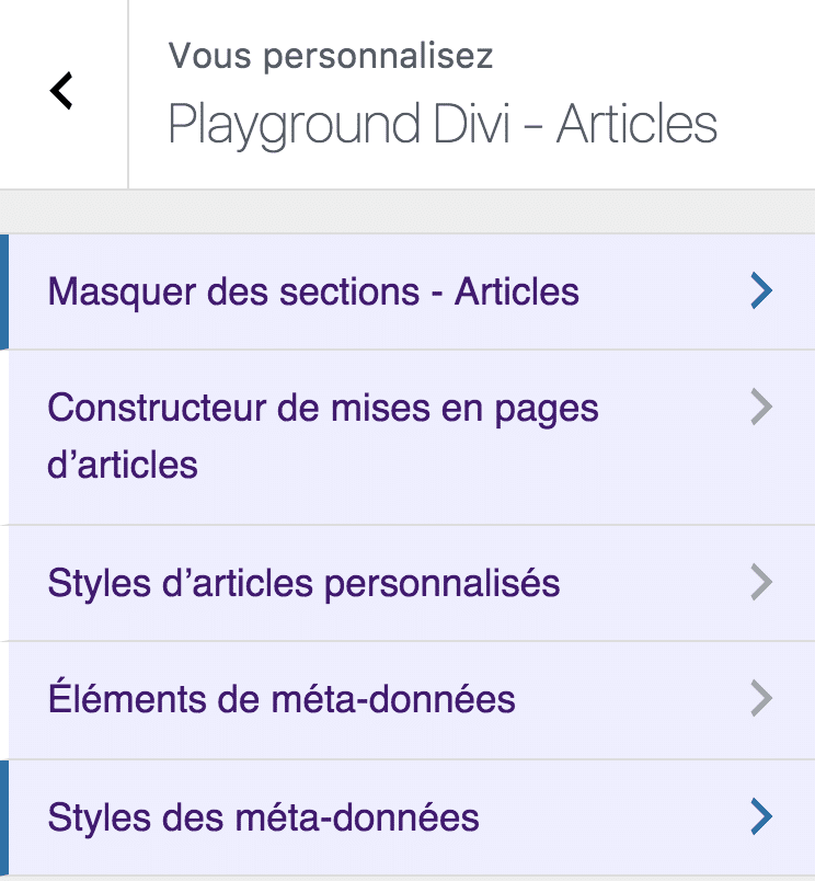 articles divi children