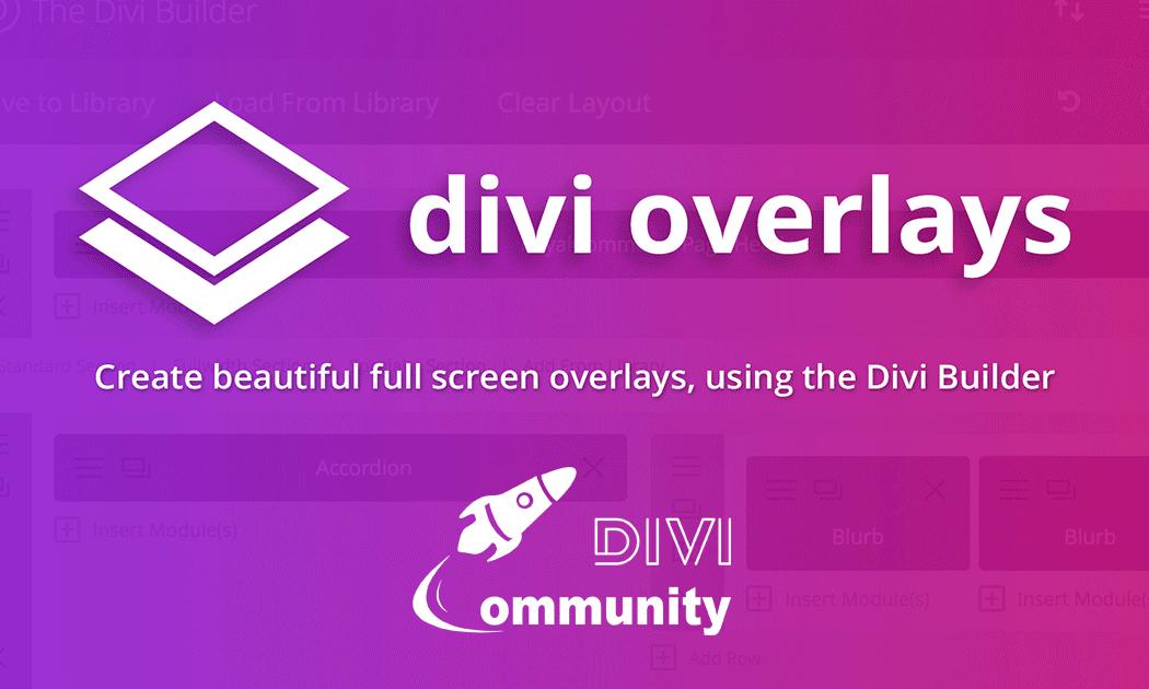 Affichez du contenu dans des modales avec Divi Overlays
