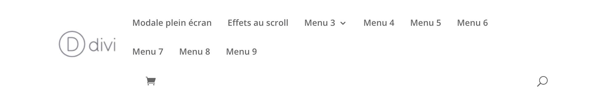 menu divi community