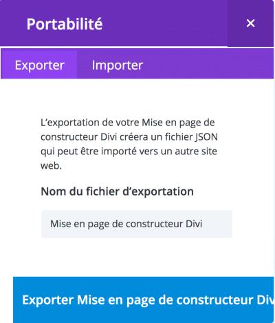 exporter layout divi