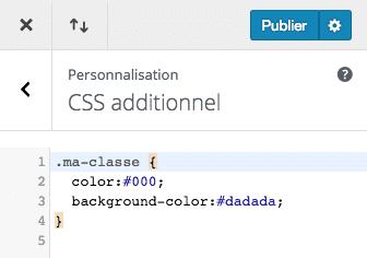 Ajouter des styles CSS dans le customizer de WordPress avec Divi