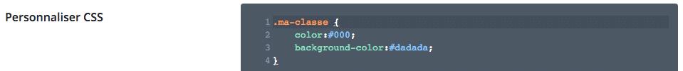 Ajouter des styles CSS dans les options du thème Divi