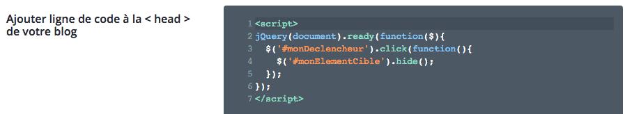 Ajouter du code jQuery dans les options du thème Divi