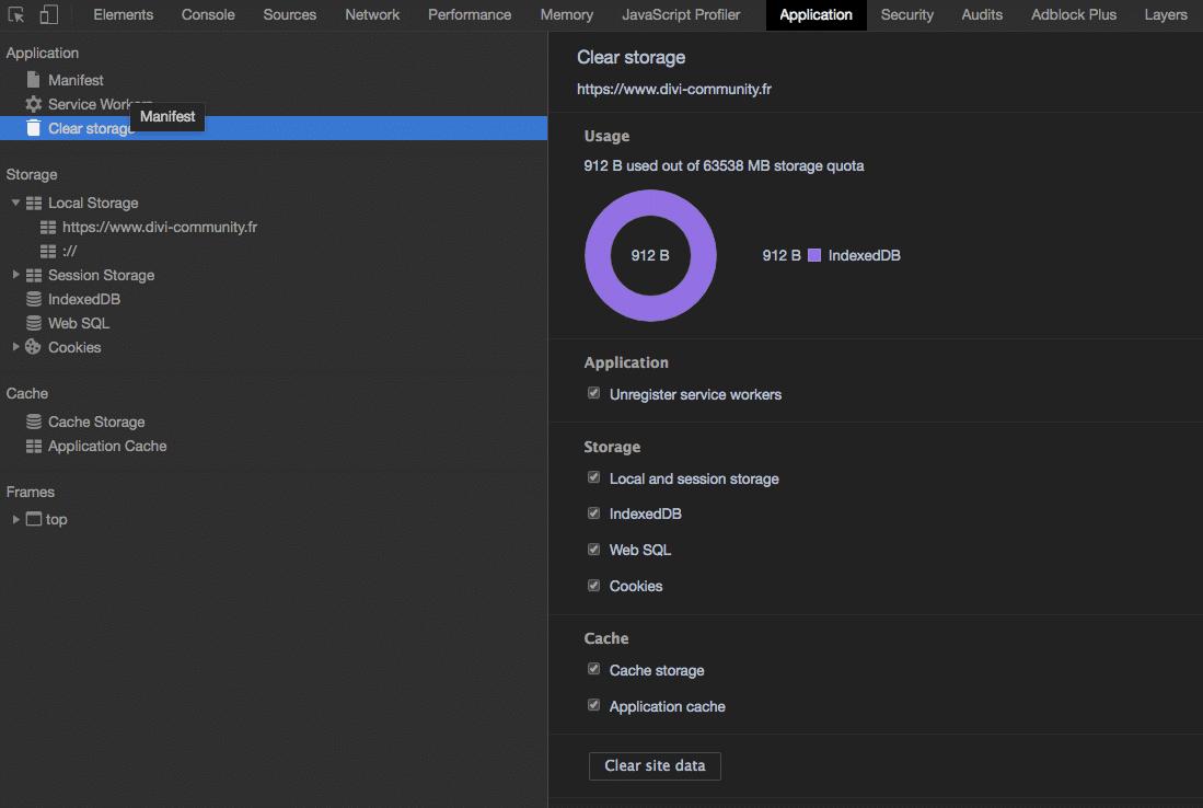 Vider le cache local dans Chrome
