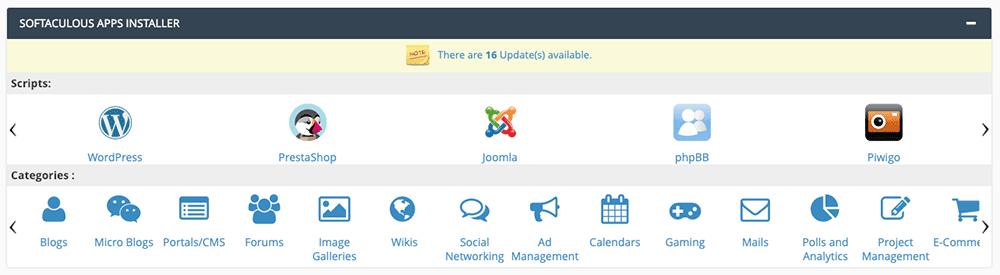Installer WordPress via Softaculous sur le cPanel de son hébergeur.