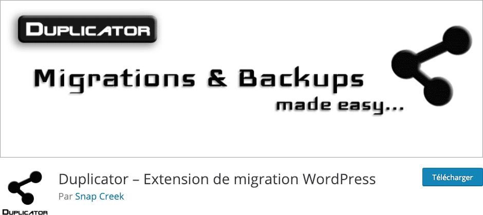 Créez des installateurs de vos sites Divi avec le plugin Duplicator.