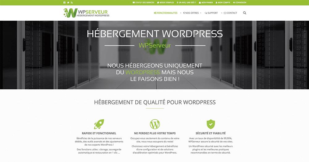 L'hébergement WordPress par WPServeur