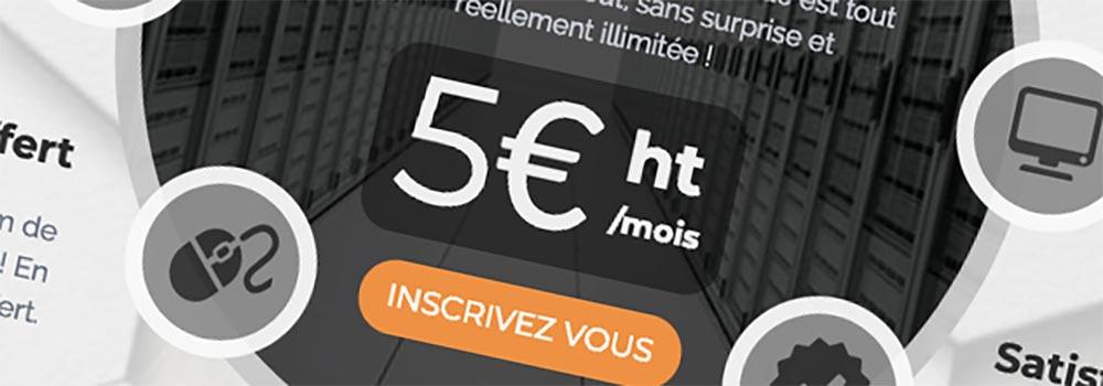 O2switch ne propose qu'une seule offre à 5 € HT / mois