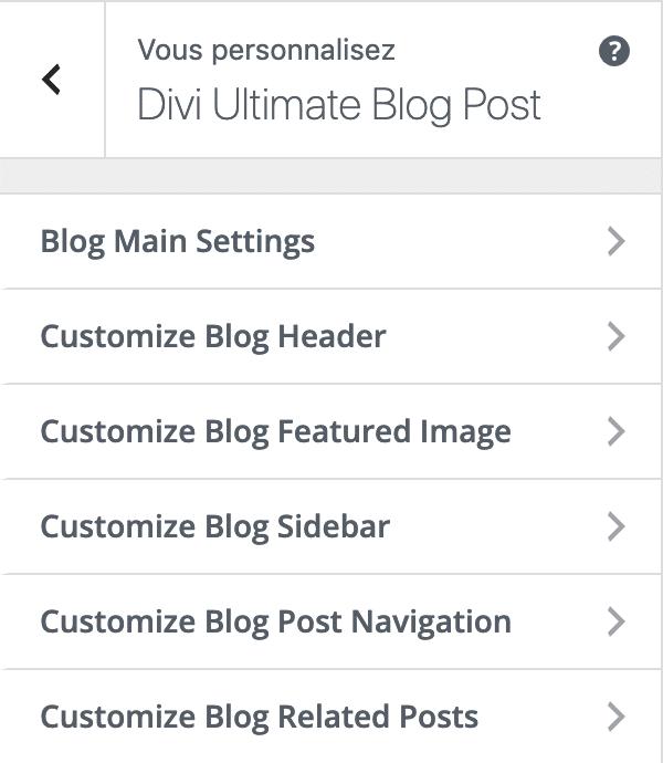 Les modèle de mise en page d'article avec le plugin Divi Ultimate Blog