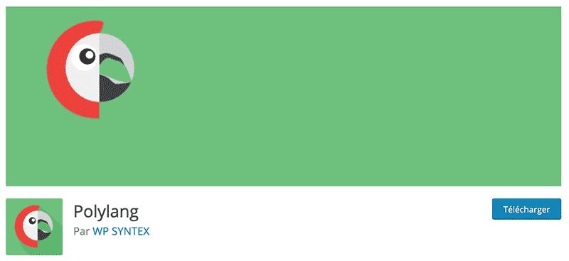 Télécharger le plugin Polylang pour traduire votre site Divi