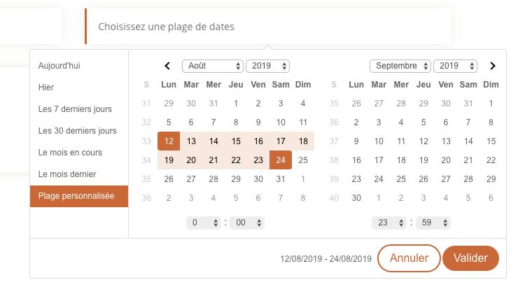 Ajouter un sélecteur de plage de dates au module formulaire de Divi