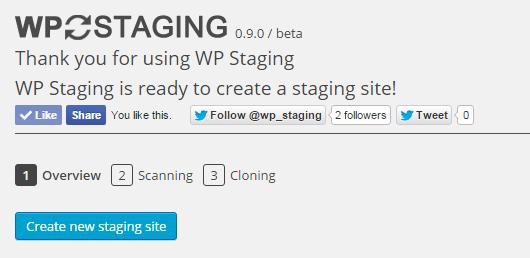 Créer un site de staging avec le plugin WP Staging