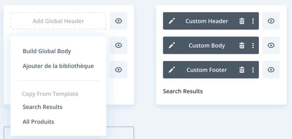 La configuration des différents templates de pages dans le Theme Builder de Divi 4