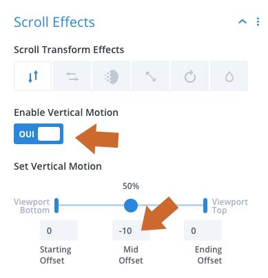 Utiliser les effets au scroll pour afficher le logo d'un site Divi