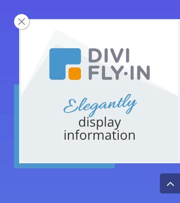 La position d'un fly-in généré par le plugin Divi Fly-In s'ajuste dynamiquement si le bouton de retour en haut de page est présent