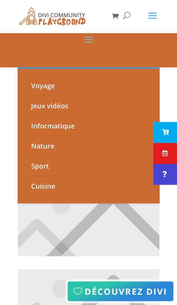 menu mobile par defaut divi